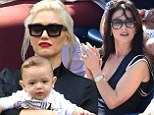 Gwen Stefani is upstaged by adorable bub Apollo at the US Open as she and Catherine Zeta-Jones lead the stars coming out for the nail-biting men's semifinal