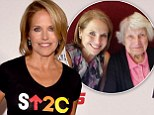 Katie Couric puts on a brave face a day after announcing her mother's death as she attends Stand Up To Cancer benefit telethon