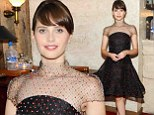 What a gem! Felicity Jones looks lovely in full-skirted dress decorated with jewels at The Theory Of Everything TIFF dinner