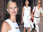 Fashion rules were meant to be broken!  Karolina Kurkova embraces white after Labor Day in two different ensembles
