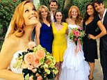 She said I do! Switched At Birth star Katie Leclerc marries Brian Habecost in front of her costars Lea Thompson and Gilles Marini