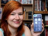Value: Rosalind Hardy, who is a recent convert to buying from China, with her Tardis case