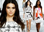 Kendall Jenner holds her own against veteran supermodel Naomi Campbell as she struts her stuff on the runway during Diane von Furstenberg's NYFW show