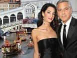 'I met my lovely bride-to-be here in Italy': George Clooney reveals he will marry fiancée Amal Alamuddin in Venice and not Lake Como 'in a couple of weeks'
