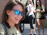 Ready for the spotlight! Janel Parrish and Bethany Mota showed off their svelte physiques as they showed up to DWTS rehearsal in LA on Sunday
