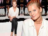 Toni Garrn shows off her long legs in skinny jeans at Porsche Design show during New York Fashion Week