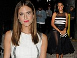 Fashion fans: Allison Williams and Rosario Dawson were among the stars attending the Opening Ceremony show on Sunday as part of New York Fashion Week