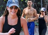 The look of love! Lea Michele struggles to keep her eyes or hands off her boyfriend Matthew Paetz on a healthy hike