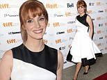 Retro glam: Jessica Chastain donned a Fifties-inspired black and white frock to attend the premiere of Miss Julie during the 2014 Toronto International Film Festival at Winter Garden Theatre on Sunday