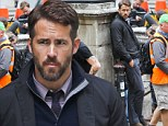 He's no smooth Criminal! Ryan Reynolds sports a scruffy beard on set of new thriller filming in London