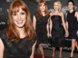 Classic: Salma Hayek, Jessica Chastain, and Naomi Watts dazzled in little black dresses at the star-studded InStyle and Hollywood Foreign Press Association annual party during the TIFF on Saturday