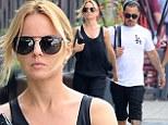 Mena Suvari enjoys relaxed weekend stroll with boyfriend Salvador Sanchez in New York City