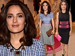 A tale of two outfits: Salma Hayek, 48, flaunts curvaceous figure in not one, but two clinging frocks while attending Toronto Film Festival events