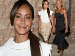 We see where she gets it from! Jada Pinkett Smith and her very youthful mother Adrienne Banfield Jones show up the models at the Christian Siriano New York Fashion Week show