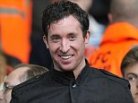 Former Liverpool and England player Robbie Fowler takes his seat before the English Premier League football match between Liverpool and Chelsea at Anfield, Liverpool, north-west England, on May 8, 2012.   AFP PHOTO/ PAUL ELLIS. RESTRICTED TO EDITORIAL USE. No use with unauthorized audio, video, data, fixture lists, club/league logos or ?live? services. Online in-match use limited to 45 images, no video emulation. No use in betting, games or single club/league/player publications.        (Photo credit should read PAUL ELLIS/AFP/GettyImages)