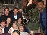 The lurker: Ashley Cole (right) mocks himself in John Terry's (back right) Intagram photo at One Direction star Niall Horan's (front right) 21st birthday party