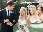 'Best day of my life!': Ashley Tisdale weds Christopher French in secret ceremony... with Vanessa Hudgens as a bridesmaid