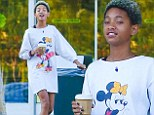 She's a Disney kid! Willow Smith, 13, wears Minnie Mouse shirt dress as she's spotted out grabbing coffee
