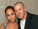 "Myleene Klass with her husband Graham Quinn during the aftershow party following the UK Premiere of ""The Island,"" at The Sanderson Hotel in London, England on August 7, 2005.    (UK TABLOID NEWSPAPERS OUT)"