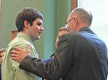 Seth Techel, left, confers with his attorney Wednesday, Sept. 10, 2014, at the Monroe County Courthouse in Albia, Iowa, after he was sentenced to life in prison for first-degree murder in the killing of his pregnant wife. A jury found Techel guilty in July of shooting his wife of seven months to death while she slept in the trailer they shared in Agency, a rural town in southeastern Iowa. She was four months pregnant with their first child, a girl they had agreed to name Zoey. (AP Photo/Ottumwa Courier, Patrick Shelby)