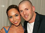 Split: Myleene Klass's ex-husband smashed an intercom system outside her home following a dispute over access to their daughters, it was claimed yesterday. Above, Graham Quinn left Miss Klass on her 34th birthday
