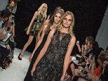 Mandatory Credit: Photo by PIXELFORMULA/SIPA/REX (4102802ar)  Models on catwalk  Vera Wang show, Spring Summer 2015, Mercedes-Benz Fashion Week, New York, America - 09 Sep 2014