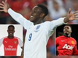 BASEL, SWITZERLAND - SEPTEMBER 08:  Danny Welbeck of England celebrates scoring to make it 2-0 during the UEFA EURO 2016 Qualifier match between Switzerland and England at St. Jakob Park on September 8, 2014 in Basel, Basel-Stadt.  (Photo by Michael Regan - The FA/The FA via Getty Images)