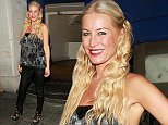 Denise van Outen after a performance of 'Some Girl I Used To Know' at the Arts Theatre Featuring: Denise van Outen Where: London, United Kingdom When: 10 Sep 2014 Credit: WENN.com