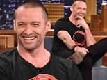 Chat show: Hugh Jackman made an appearance on Wednesday night on The Tonight Show Starring Jimmy Fallon