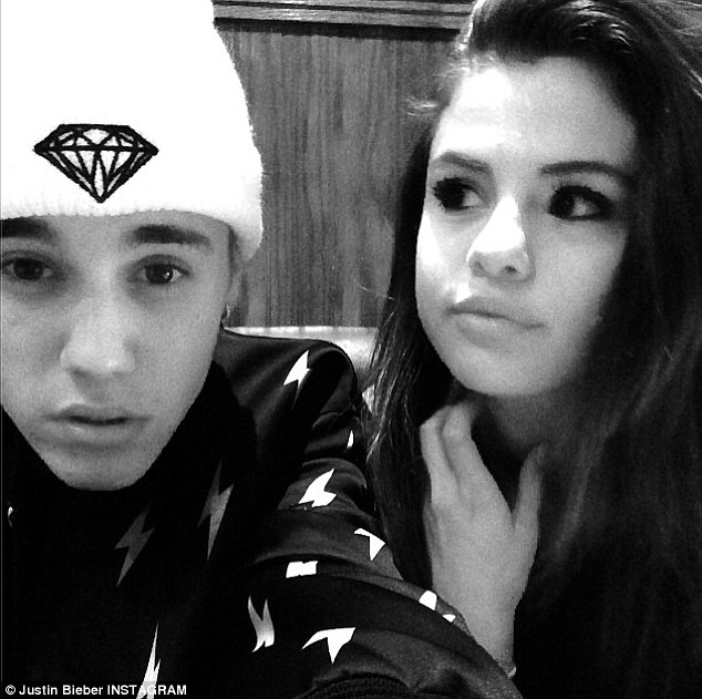 Romantic getaway: Before being spotted on a romantic holiday in Canada, Justin and Selena posed together on a private jet Wednesday