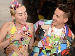Mandatory Credit: Photo by REX (4103307aa)  Miley Cyrus and Jeremy Scott  Jeremy Scott show, Spring Summer 2015, Mercedes-Benz Fashion Week, New York, America - 10 Sep 2014