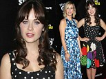 Flower power! Zooey Deschanel and Kristen Wiig look blooming lovely in floral print dresses at The Skeleton Twins premiere