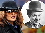 The lady is a Tramp! Salma Hayek dons Charlie Chaplin-esque ensemble as she steps out in Mayfair