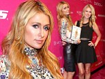 Sister act! Paris and Nicky Hilton wear thigh-skimming skirts to NYFW party... as they continue to promote new book 365 Style