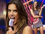 That looks tasty! Alessandra Ambrosio licks ice lolly during fun-filled Spanish TV appearance