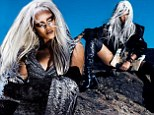 Going grey: Rihanna dons silver wig as she wears thigh high boots and leotard for new magazine photoshoot