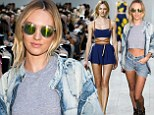 Style chameleon Candice Swanepoel swaps edgy backstage look for breezy summer fashion on runway at Michael Kors show