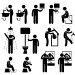 Personal Hygiene in Toilet Pictogram