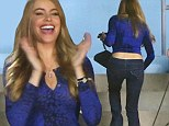 Sofia Vergara shows off backside in sexy crop top and tight jeans after ex said she didn't dress 'classy'... but it's for her show Modern Family