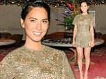 Shine bright like a diamond! Olivia Munn glistens in a stunning $12,000 embellished short romper