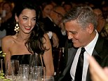 'I love you very much': George Clooney tells Amal Alamuddin he 'can't wait' to be her husband in touching speech
