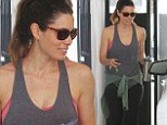 Jessica Biel shows off her toned arms after a gym session... as it's announced she will guest star on New Girl