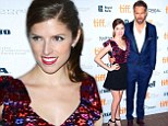 Anna Kendrick cosies up to co-star Ryan Reynolds at Toronto gala for their film The Voices
