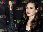 No irony here! Winona Ryder, 42, looks young and radiant as she arrives at opening night of Broadway play This Is Our Youth