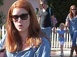 It's Supermom! Man Of Steel star Amy Adams delights in double denim as she enjoys family day out in Los Angeles