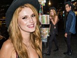 Newly single Bella Thorne indulges in street vendor hot dog with tattooed hairdresser Castillo Benz in NYC