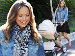 Baby's debut! Stacy Keibler takes new daughter Ava Grace out in public for the first time less than three weeks after she was born