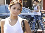 Vanessa Hudgens looks street chic in ripped jeans and revealing tank top... after news she'll play elegant Parisian Gigi for Broadway show