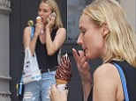 Life is sweet! Dressed down Diane Kruger treats herself to an ice cream cone and sprinkles on a shopping trip
