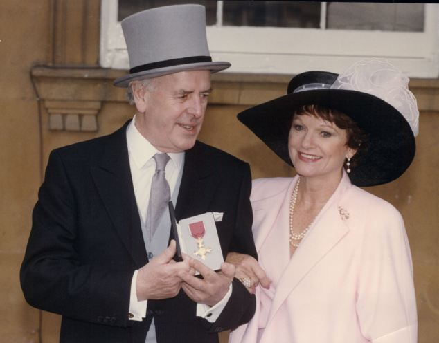 George, pictured here with wife of 46 years, Penny, grew up on a South London council estate